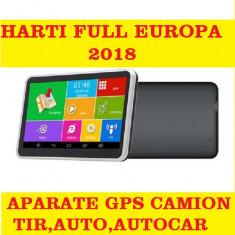 GPS Auto Navigatie AUTO,GPS TIR,GPS CAMION,  GPS IGO PRIMO HARTI EUROPA 2018, 7, Toata Europa, Lifetime