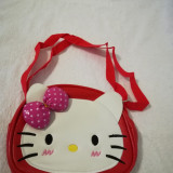Geanta Hello Kitty - Geanta Dama, Culoare: Rosu, Marime: Masura unica