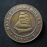 """Medalie Nava Scoala """" Mircea """" - Prima traversada a Atlanticului - Medalii Romania"""