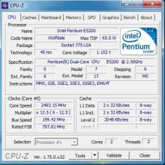 Kit placa de baza Asrock + Procesor Intel E5200 / 2, 50 ghz / DDR2 / Cooler (L20), Pentru INTEL, LGA775, Contine procesor, MicroATX