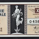 Franta Bilet Loterie pt colectionari 100 Francs s 0458640 1936