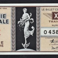 Franta Bilet Loterie pt colectionari 100 Francs s 0458640 1936 - Bilet Loterie Numismatica
