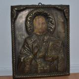 Icoana argint anii 1900 / Icoana veche argint / Icoana superba argint - Icoana pe lemn
