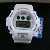CASIO G-SHOCK  DW-6900-PEARL WHITE-BACKLIGHT-POZE REALE-MODEL NOU-CEASUL EMINEM