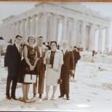 3 fotografii cu Mia Groza in vizita oficiala in Grecia, vizitand Acropole - Fotografie veche