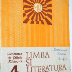 Revista pentru elevi Limba si literatura romana nr. 4 / 1986
