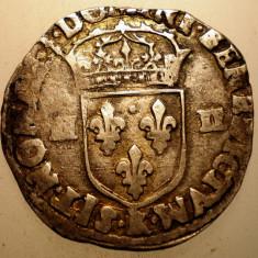 G.013 FRANTA HENRY HENRI IV 1/4 ECU 1608 ARGINT 9, 5g - Moneda Medievala, Europa