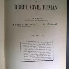 C. Hamangiu, s.a. - Tratat de drept civil roman, vol. III {1928}