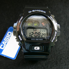 CASIO G-SHOCK DW-6900-BLACK&WHITE-BACKLIGHT-POZE REALE-MODEL NOU-CEASUL EMINEM - Ceas barbatesc Casio, Sport, Quartz, Cauciuc, Alarma, Electronic