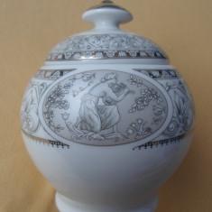 Zaharnita/ urna/ vaza/ caseta portelan fin Limoges