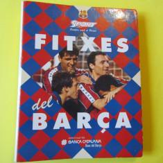 Album de colectie- 39 de foto jucatori FC BARCELONA (inclusiv HAGI si G.Popescu)