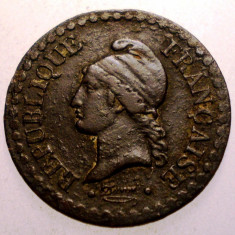 J.038 FRANTA 1 UN CENTIME 1850 A, Europa, Bronz