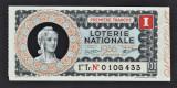 Franta Bilet Loterie pt colectionari 100 Francs s 0106433 1936