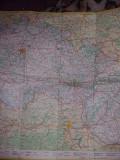 Harta turistica auto repubica socialista Cehoslovaca,1976 document vechi