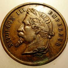 J.092 FRANTA MEDALIE NAPOLEON III EXPOSITION UNIVERSELLE 1867 28mm, Europa