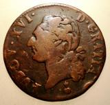 J.117 FRANTA LUDOVIC LOUIS XVI 1/2 SOL 1787 AA