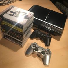 PS3 fat 40Gb, 2 controlere, 13 super jocuri - PlayStation 3 Sony