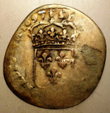 G.360 FRANTA LUDOVIC LOUIS XIV 15 DENIERS QUINZAIN 1697 B 1,8g, Europa