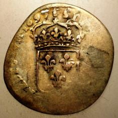 G.360 FRANTA LUDOVIC LOUIS XIV 15 DENIERS QUINZAIN 1697 B 1, 8g - Moneda Medievala, Europa