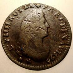 G.357 FRANTA LUDOVIC LOUIS XIV 1 LIARD DE FRANCE 1695 N - Moneda Medievala, Europa