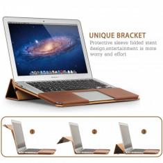 Husa piele naturala Lecxci pentru Apple Macbook Air 11 inch - Husa laptop