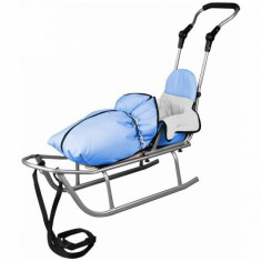 Sanie Baby Dreams Rider Plus cu Sac de iarna Speedy Color albastru