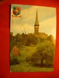Ilustrata Biserica de lemn din Plopiș, comuna Șișești, județul Maramureș
