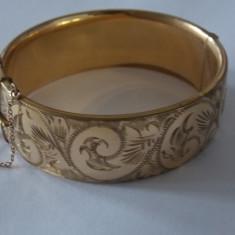 Bratara aurita(9 carate) cu miez de metal 20 Microni -2268 - Bratara placate cu aur