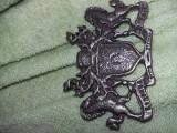 Emblema veche tip blazon,blazon argintat,deosebit,T. GRATUIT