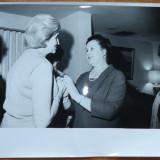3 fotografii cu Mia Groza la o intrunire oficiala in Statele Unite, anii 60 - Fotografie veche