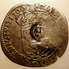 G.363 FRANTA LUDOVIC LOUIS XIV 15 DENIERS QUINZAIN 1700 1, 97g CONTRAMARCA - Moneda Medievala, Europa