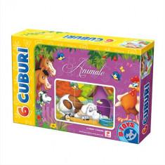 Cuburi 6 Piese Animale - Jocuri arta si creatie D-Toys