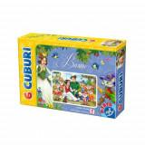 Cuburi 6 Piese Basme - Jocuri Logica si inteligenta D-Toys