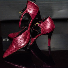 Pantofi damă Viviana - Pantof dama, Culoare: Magenta, Marime: 39, Cu toc