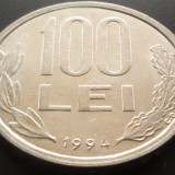 Moneda 100 Lei - ROMANIA, anul 1993 *cod 3501 --- XF - Moneda Romania, An: 1994