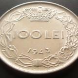 Moneda 100 Lei - ROMANIA, anul 1943 *cod 4189 A.UNC+ - Moneda Romania