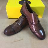 Pantofi PIELE NATURALA maro ENZO BERTINI - Pantofi barbat, Marime: 45, Culoare: Negru, Casual