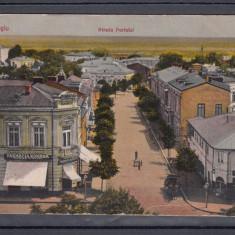 GIURGIU STRADA PORTULUI FARMACIA ROMANA - Carte Postala Muntenia dupa 1918, Circulata, Printata