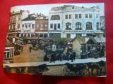 Ilustrata-Bucuresti- Curtea Veche -Piata de Flori la 1912 - Colectia Muzeul Arta, Necirculata, Printata