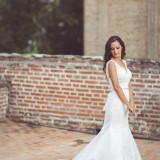 Rochie de mireasa + voal + cordon - ORIGINALE