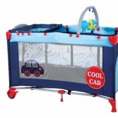 Patut pliant cu 2 nivele SleepWell 120 x 60 cm Car BabyGo - Patut pliant bebelusi
