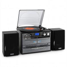 Sistem Stereo Auna Hi-Fi, Vinyl/CD/MP3 USB SD, casetă - Pickup audio