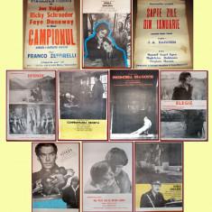 10 afise Romaniafilm era comunista (lot 1), cinema Epoca de Aur anii '70-'80