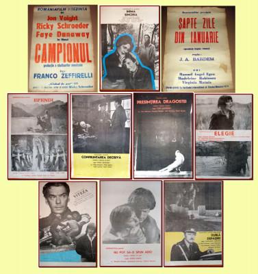 10 afise Romaniafilm era comunista (lot 1), cinema Epoca de Aur anii '70-'80 foto