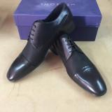 Pantofi PIELE NATURALA negru SAN MARINA elegant - Pantofi barbat, Marime: 45, Eleganti