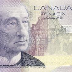 !!! RARR : CANADA - 10 DOLARI 2001 (2000) - P 102 a - UNC / FARA BANDA LATA - bancnota america