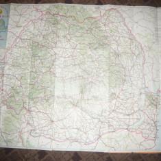 Harta Turistica si Rutiera a Romaniei - Directia Topografica Militara 1979
