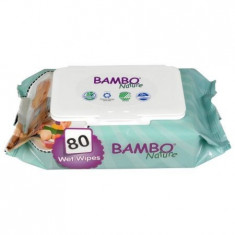 Servetele umede Bambo Nature, 80 buc/pachet