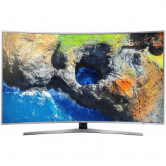 Televizor Samsung LED Smart TV Curbat UE49 MU6502 124cm Ultra HD 4K Silver - Televizor LED Samsung, 125 cm
