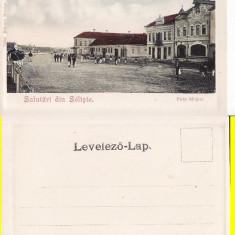 Saliste (Sibiu)- Piata, clasica - Carte Postala Transilvania pana la 1904, Necirculata, Printata